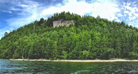 door county lake and bluffs