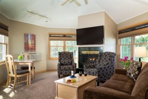 Entertainment portion of Grand Whirlpool living room